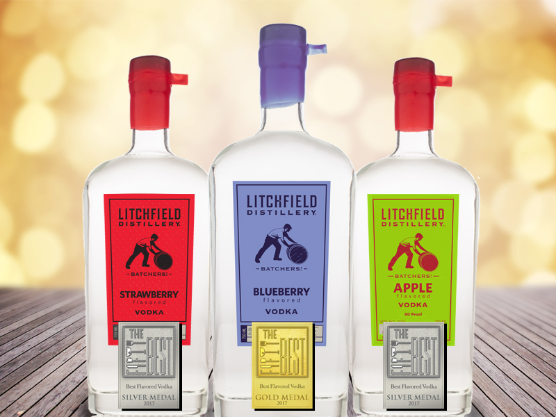 Litchfield Distillery Flavored Vodkas Recognized by The Fifty Best
